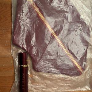 NWOT Wander dual lipstick &leather lip-shape case